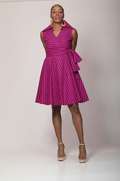 Captains Neck Summer Dress - AnnaTeiko Designs