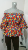Ankara Off-Shoulder blouse - AnnaTeiko Designs