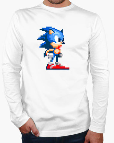 Sonic The Hedgehog 16-bits Long Sleeve T-shirt - Gamer Treasures