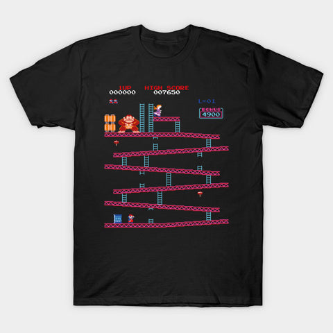 Donkey Kong Level 1-1 T-shirt - Gamer Treasures