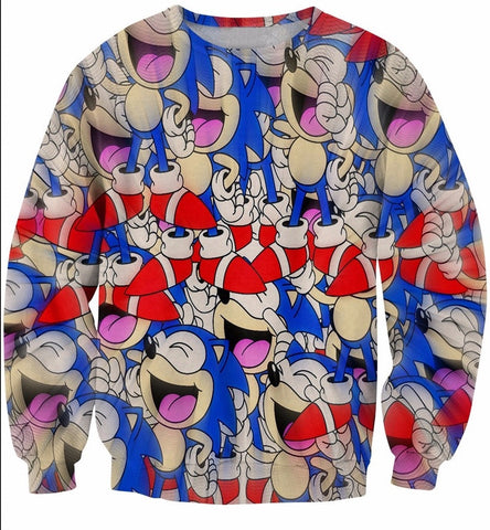 Laughing Sonic Sweatshirt - Gamer Treasures