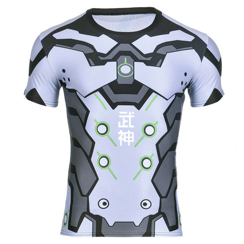 Genji Overwatch 3D Compression T-shirt - Gamer Treasures