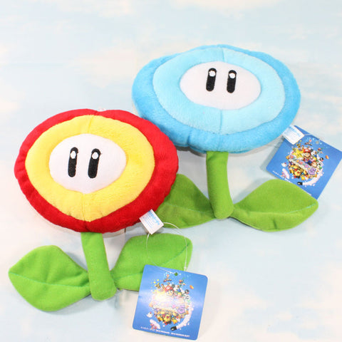 Fire Flower/Ice Flower Super Mario Plush Toy 17cm/6.5inches - Gamer Treasures