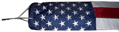 F05 USA Windsock Flag Embroidered Stars Sewn Heavy Wind 210D Nylon 210 D