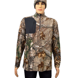 DRI DUCK Realtree Camo Sweater Interval DDX Quarter-Zip Jacket Nano Fleece Nylon Water Proof Pullover