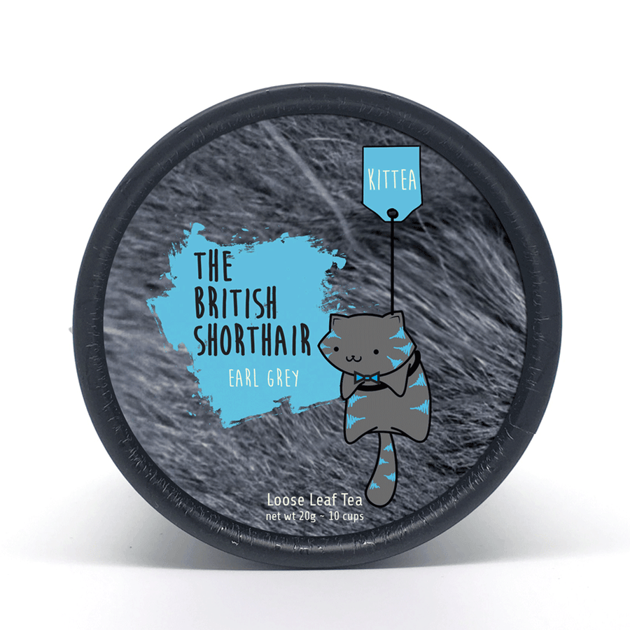 The British Shorthair - Earl Grey Blue Tea Tin - Kittea