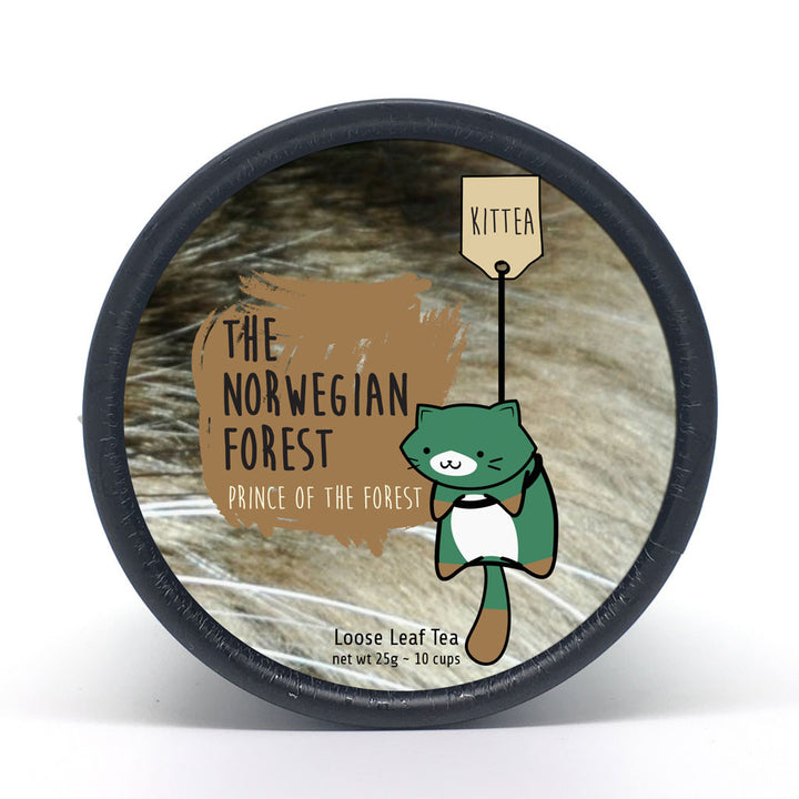 The Norwegian Forest - Prince of the Forest Tea Tin - Kittea