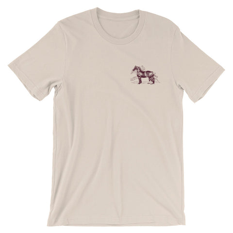 GALLANT FOX BOURBON (front and back) Unisex short sleeve t-shirt