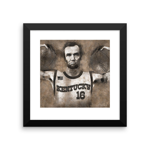 LINCOLN THE BALLER Framed poster