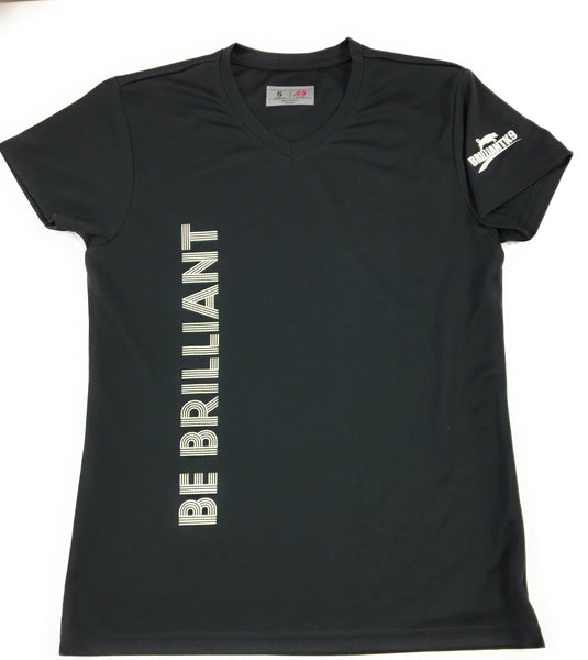 T Shirt Be Brilliant Women's V Neck Short Sleeve