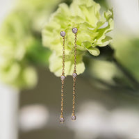 Dainty Crystal Drop Earrings, Earrings - AMY O. Jewelry