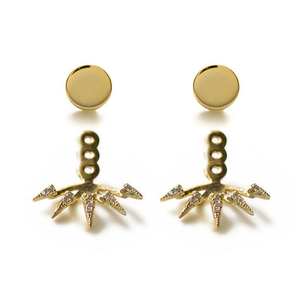 Spike Pavé Ear Jacket Earrings