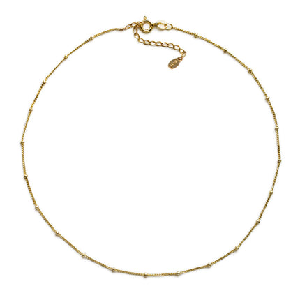 Celine Curb Chain Beaded Choker