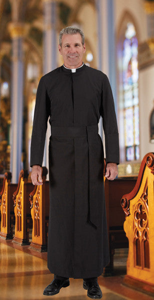 Semi-Jesuit Cassock with Cincture