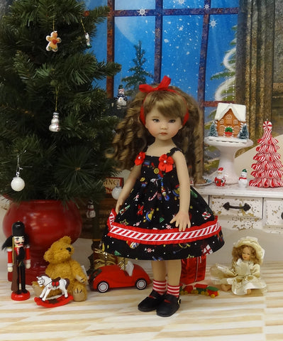 Christmas Toys - dress, socks & shoes for Little Darling Doll or 33cm BJD