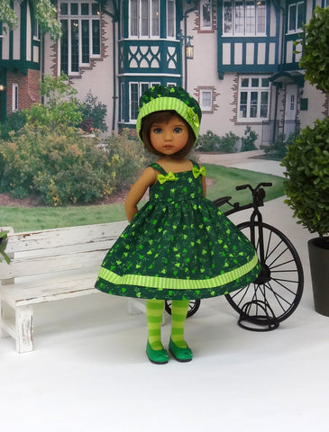 Clover Cutie - dress, hat, tights & shoes for Little Darling Doll or 33cm BJD