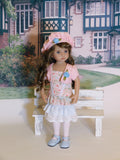 Delicate Garden - dress, jacket, beret, tights & shoes for Little Darling Doll