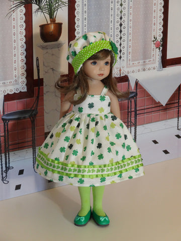 Good Luck - dress, hat, tights & shoes for Little Darling Doll or 33cm BJD