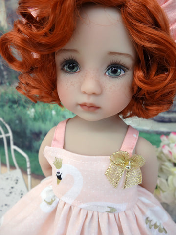 Royal Swan - dress, hat, tights & shoes for Little Darling Doll or 33cm BJD