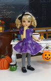 Spider Webs - dress, tights & shoes for Little Darling Doll or 33cm BJD