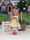 Spring has Sprung - dress, tights & shoes for Little Darling Doll