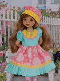 Sunny Daze - dress, hat, tights & shoes for Little Darling Doll
