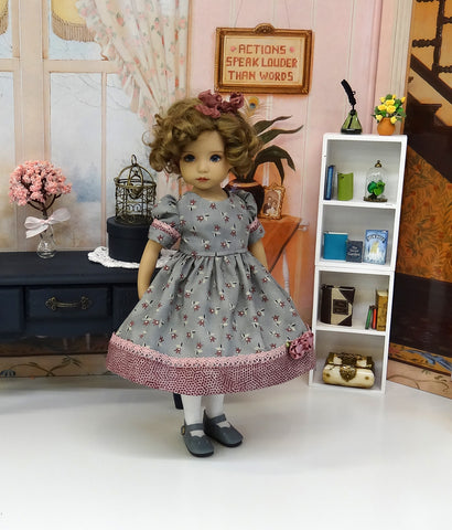 Twilight Song - dress, tights & shoes for Little Darling Doll or other 33cm BJD