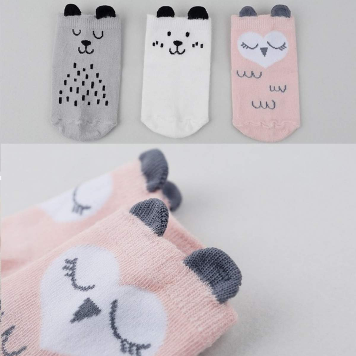 Cozy Baby Animal Socks-UPKIWI