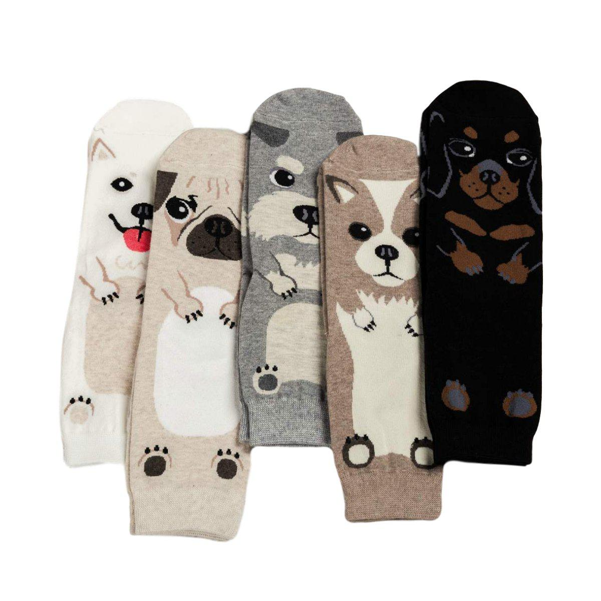 Cartoon Dog Breed Socks