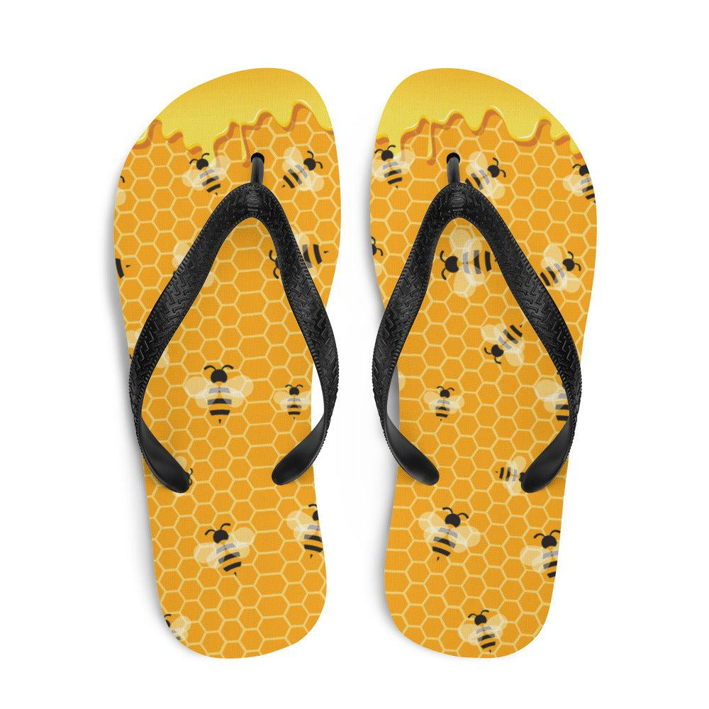 Honey Bee Sublimation Flip-Flops