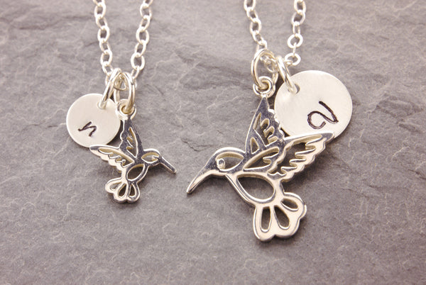 humming bird mother daughter necklaces