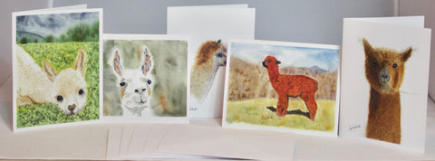 Alpaca & Llama Watercolor Notecards