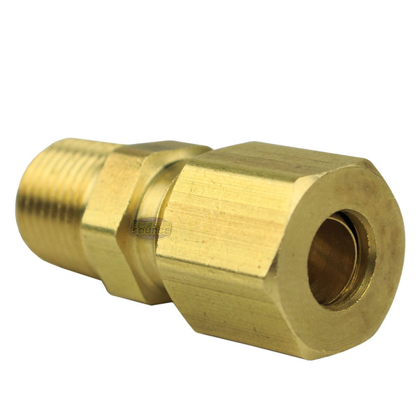 "1/4"" x 1/8"" Compression x Male NPT Adapter Pipe Fitting Tube Connector Ferrule"