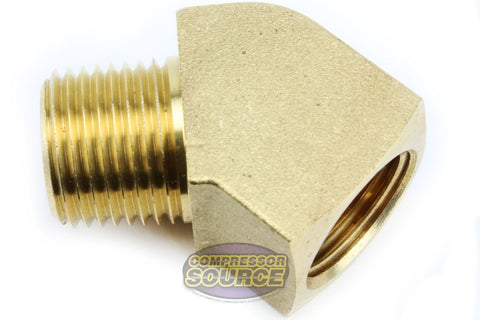 "MaxLine Rapid Air 45° Degree 1/2"" NPT Pipe Thread Brass Street Elbow Fitting 50131"