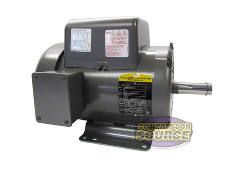 Baldor 5 HP Single Phase Electric Compressor Motor 184T Frame 230V 1725 RPM