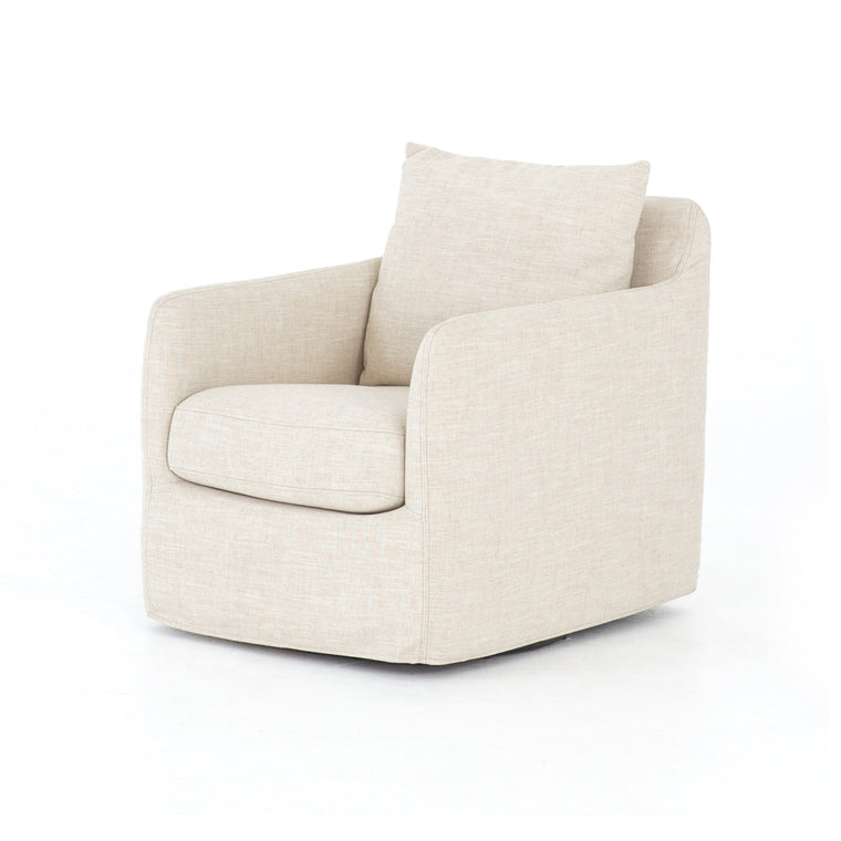 VALDIS CAMBRIC IVORY SWIVEL CHAIR