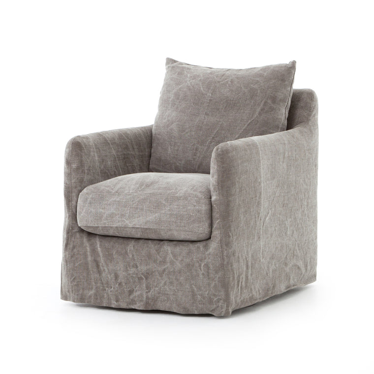 VALO STONEWASH HEAVY JUTE SWIVEL CHAIR