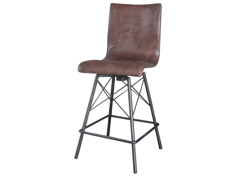 Alta Rustic Counterstool-Brogan Brown/Waxed Blk