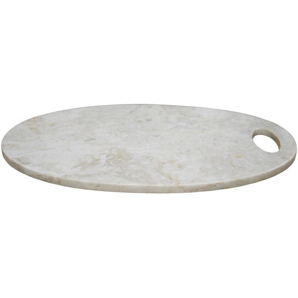 Olene  Chopping Board with Hole, White Marble