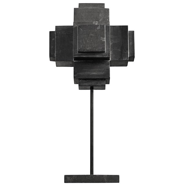 Secora  Cube On Stand, Black Marble