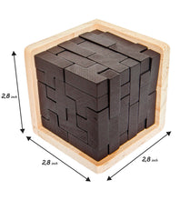 Load image into Gallery viewer, 3D Wooden Brain Teaser Puzzle for Kids & Adults by Sharp Brain Zone - Sharp Brain Zone