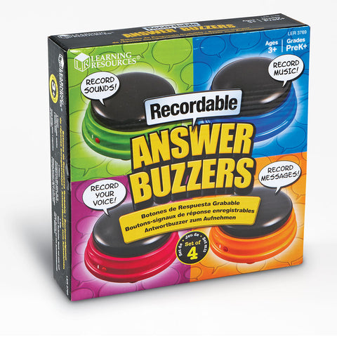 Recordable Answer Buzzers, Set Of 4 by Learning Resources Learning Resources specialneedsessentials