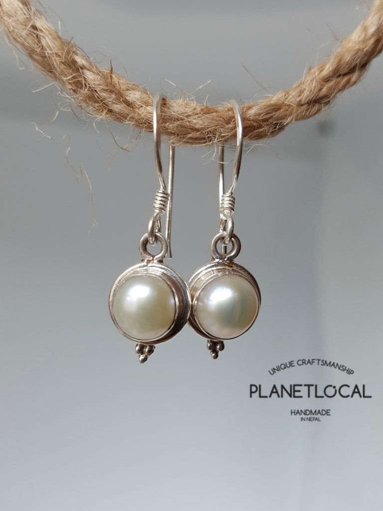 Round Dangly - Handmade 925 Sterling Silver Earrings - PLANETLOCAL