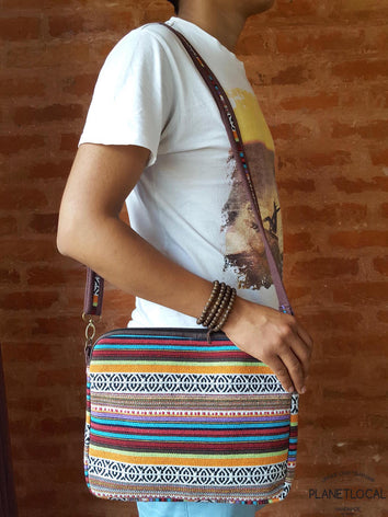 Handmade Ethnic Cotton Fabric Light Weight side bag - PLANETLOCAL