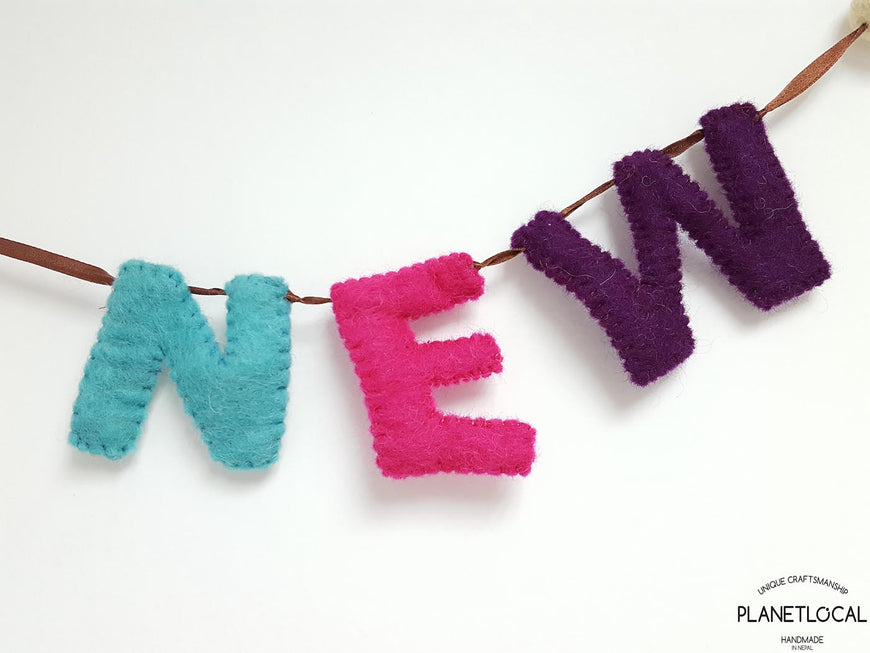 Customise your words with Handmade Felt letters - PLANETLOCAL (6)