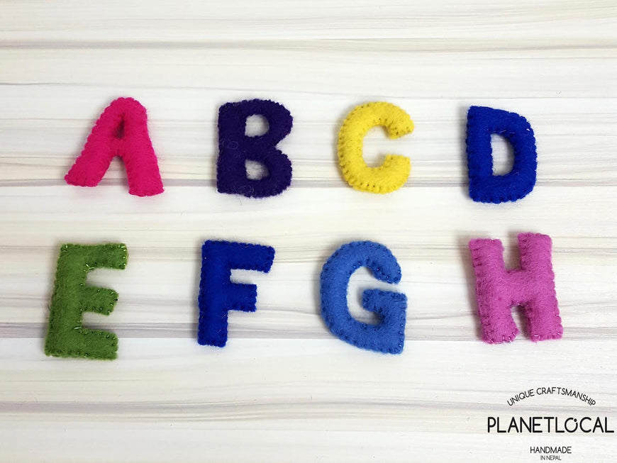 Customise your words with Handmade Felt letters - PLANETLOCAL (1)