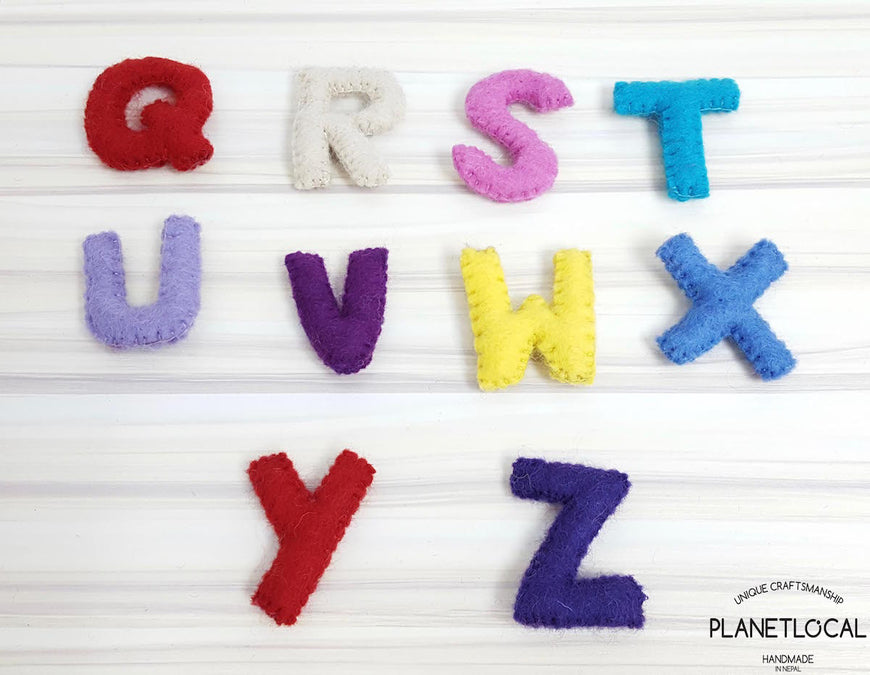 Customise your words with Handmade Felt letters - PLANETLOCAL
