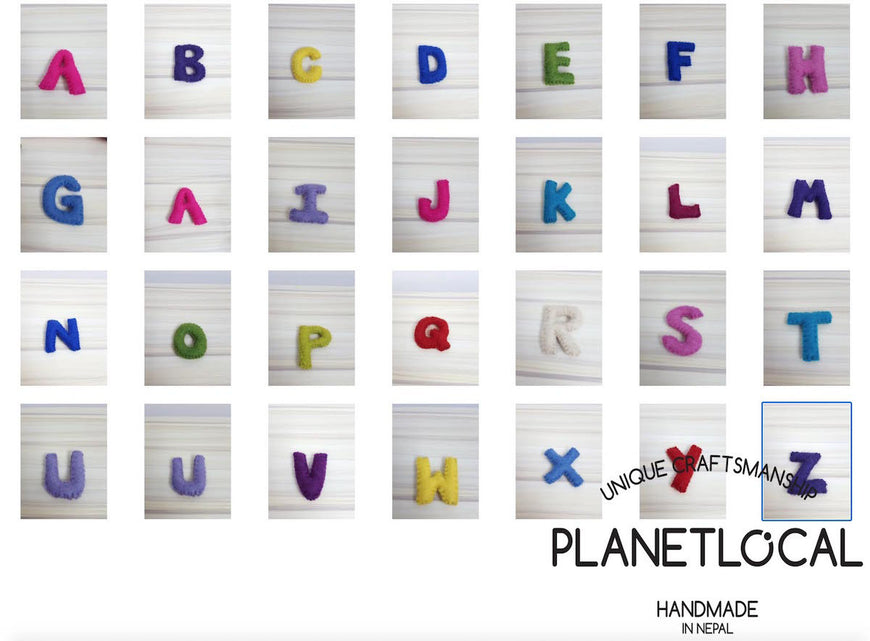 Customise your words with Handmade Felt letters - PLANETLOCAL (3)