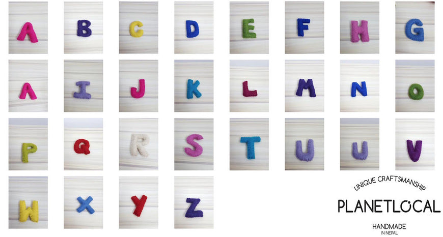 Customise your words with Handmade Felt letters - PLANETLOCAL (4)