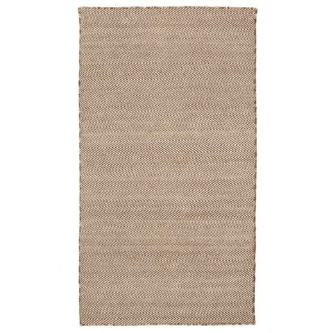 Indoor Outdoor Recycled Plastic PET Polypropylene Rug Herringbone Beige